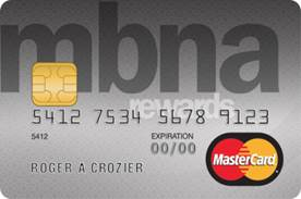 StudentAwards MBNA Rewards MasterCard® credit card