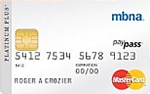 MBNA Platinum Plus® <em>MasterCard®</em> Credit Card