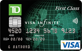 TD First Class Travel <i>Visa Infinite*</i> Card