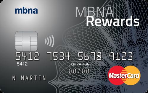 MBNA Rewards MasterCard® credit card