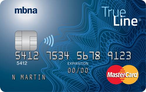 MBNA True Line<sup>®</sup> Mastercard<sup>®</sup> credit card