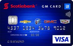 Scotiabank® GM®* VISA* card