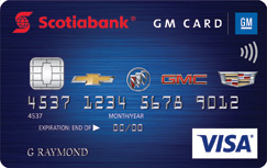 Scotiabank® GM<sup>®</sup>* Visa* Card