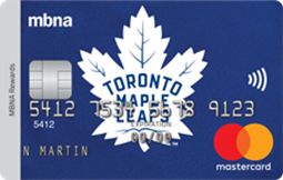 Toronto Maple Leafs<sup>®</sup> MBNA Rewards Mastercard<sup>®</sup> Credit Card