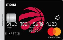 Toronto Raptors<sup>®</sup> MBNA Rewards Mastercard<sup>®</sup> Credit Card