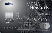 MBNA Rewards World Elite<sup>®</sup> Mastercard<sup>®</sup> credit card