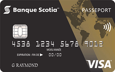 Carte Visa* <em>Or Scotia Passeport</em><sup>MD</sup>