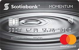 Scotia Momentum<sup>®</sup> Mastercard <sup>®*</sup> Credit Card