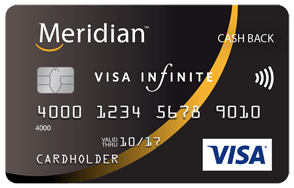 Meridian<sup>™</sup> Visa Infinite* Cash Back Card