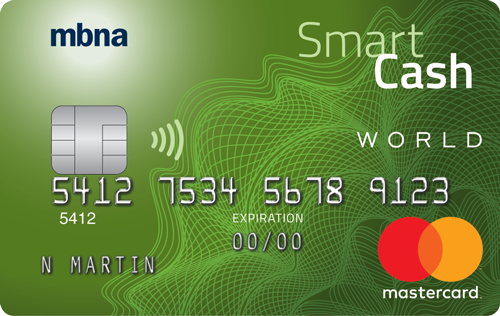 MBNA Smart Cash<sup>®</sup> World Mastercard<sup>®</sup>