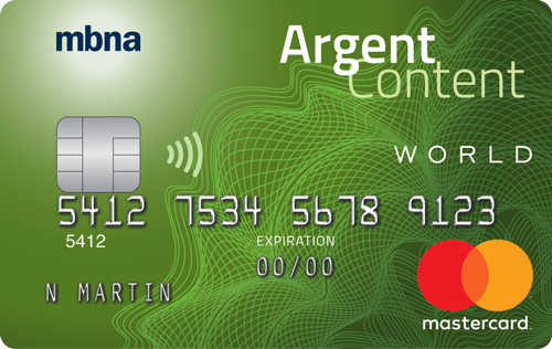 Mastercardᴹᴰ World Argent Content MBNA