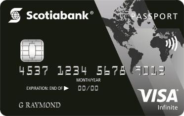 Carte VISA Infinite* Passeport<sup>MC</sup> Banque Scotia
